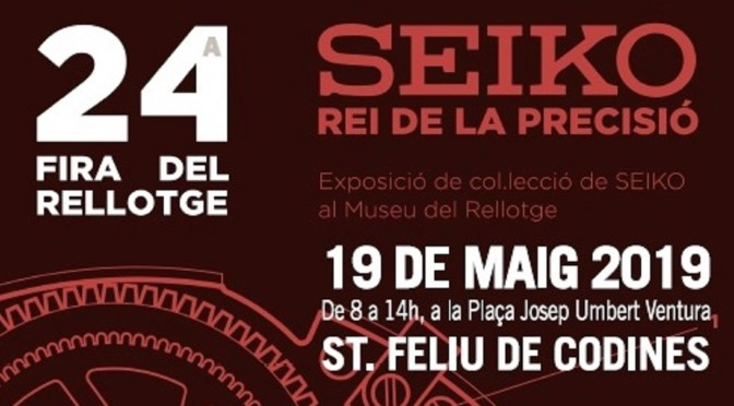 XXIV FIRA DEL RELLOTGE DIUMENGE 19 DE MAIG DE 2019