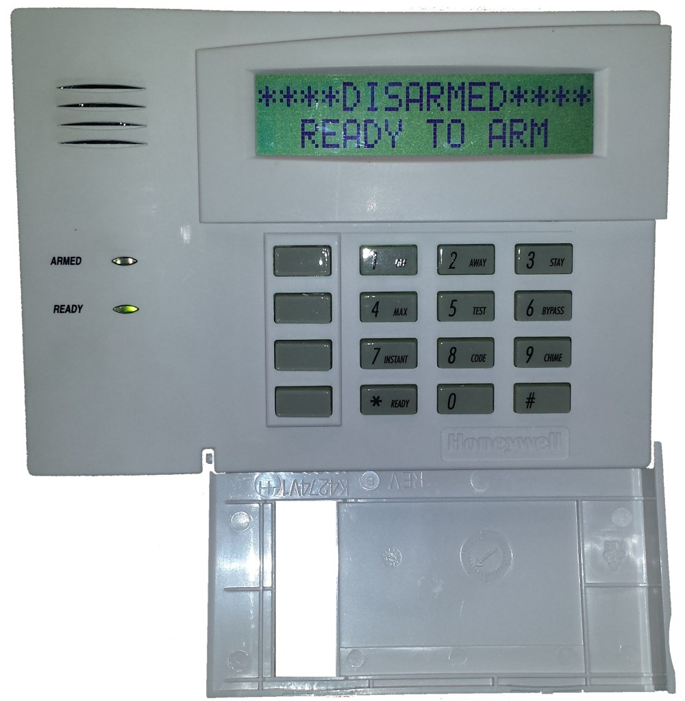 medium resolution of honeywell vista security alarm system keypad