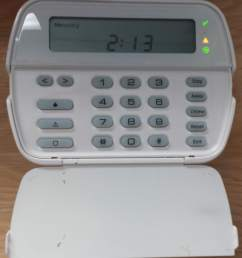 dsc power series security alarm keypad with trouble light [ 1996 x 2238 Pixel ]