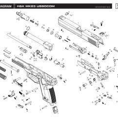 Glock 23 Disassembly Diagram 1999 Saturn Sl2 Radio Wiring Kwa Gun Manual H Andk Mk23 Airsoft Shop Guns