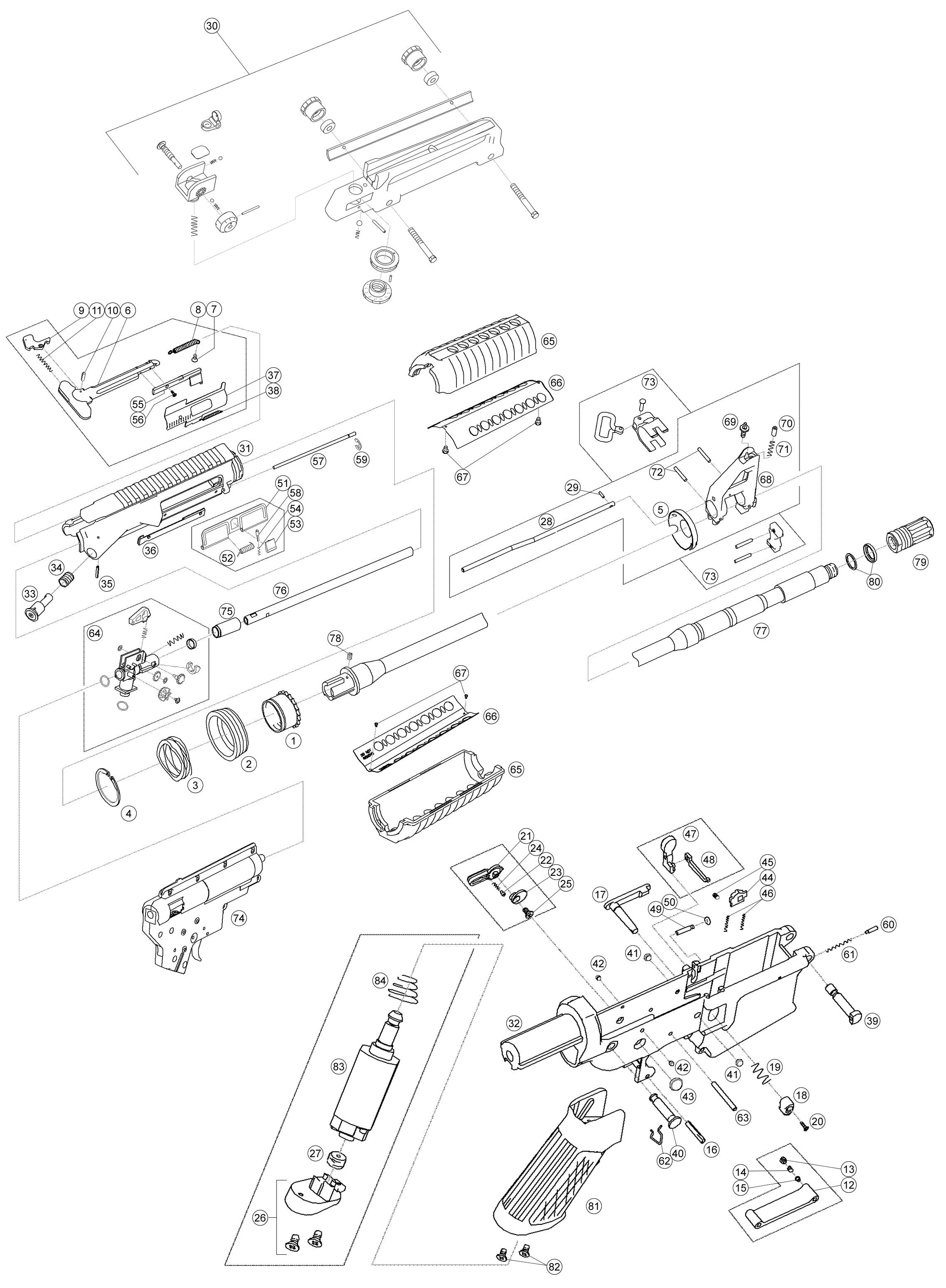 Airsorft Gun Shop, Airsoft AEG, Airsoft Rifle King Arms
