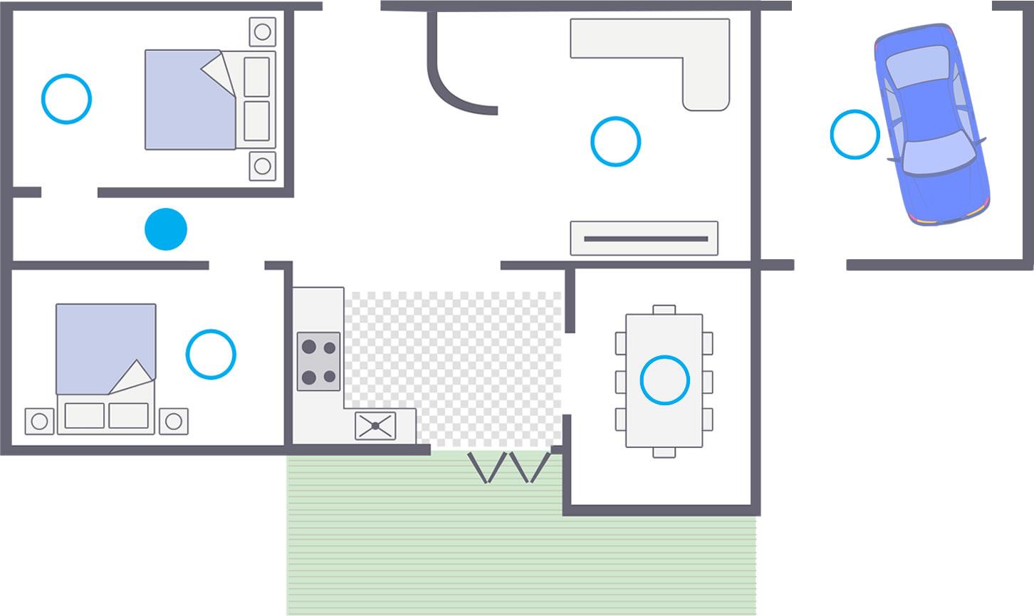 hight resolution of single floor plan smoke alarms