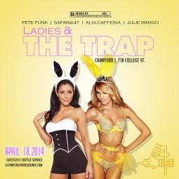 Ladies & The Trap April 18 Crawford Julie Mango Alia Caffeina Pete Funk Safari647