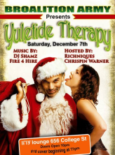 Yuletide Therapy Fire 4 Hire DJ Shamz Richniques Chrispin Warner Lily Lounge College Street Toronto Party Xmas