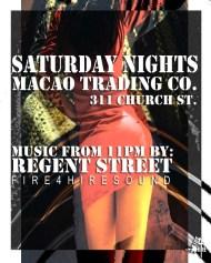 Macao Trading Company Regent Street FIre 4 Hire 311 Church St.