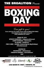 Boxing Day Broalition Fire 4 Hire Spence Diamonds Corey Dawkins Richniques Pete Funk Play on Queen