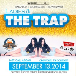Ladies The Trap September 13th Crawford Bard 718 College Street