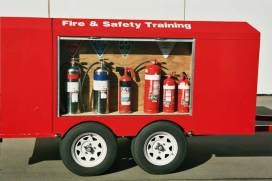 Fire Extinguisher trailer