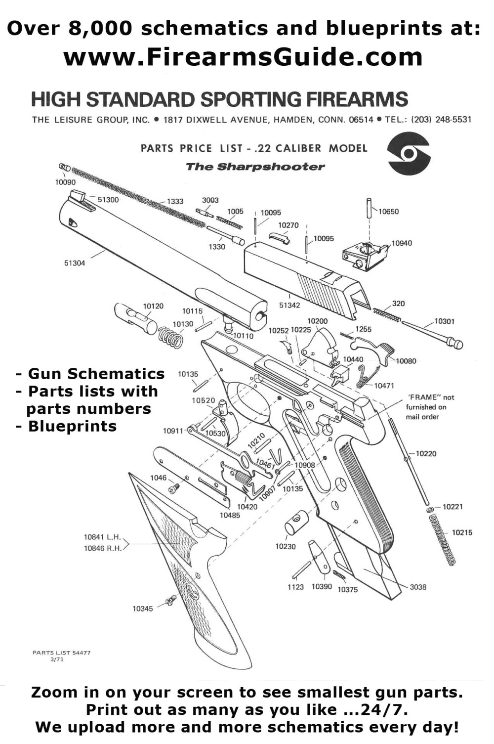 medium resolution of if you need gun schematics diagrams or exploded views with original parts lists with parts descriptions and original parts numbers or even original gun