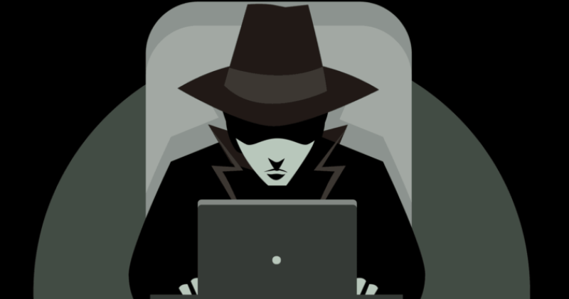 Image depicts a shady character engaging in black hat SEO