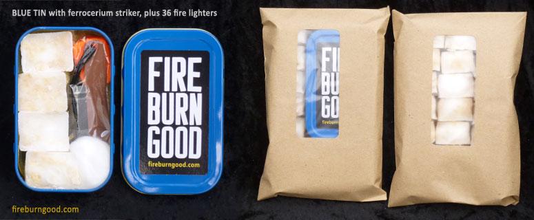 Firelighting Kit with blue tin