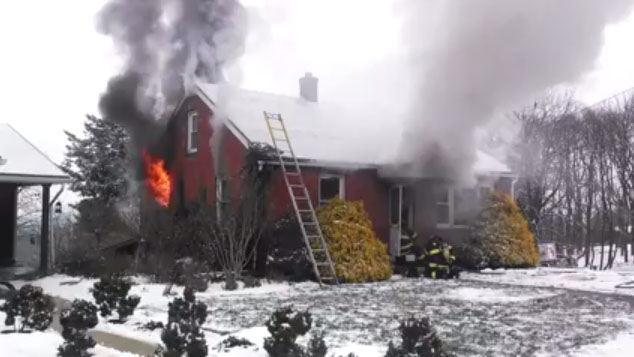 Video House Fire in Berks County PA  Fire Critic