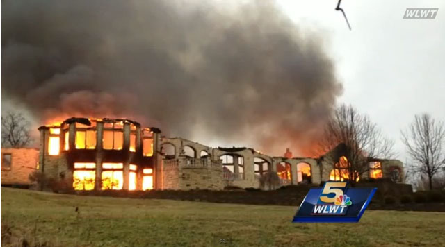 Video 4 Million Home Burns in Indian Hill Ohio