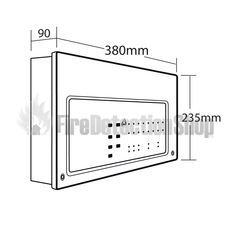 C-Tec CFP708-4 8 Zone Conventional Fire Alarm Panel