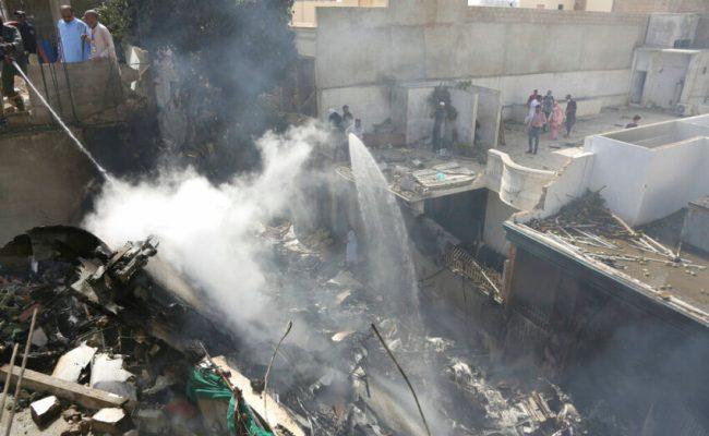 Deadly Plane Crash In Pakistan 107 On Board Fire