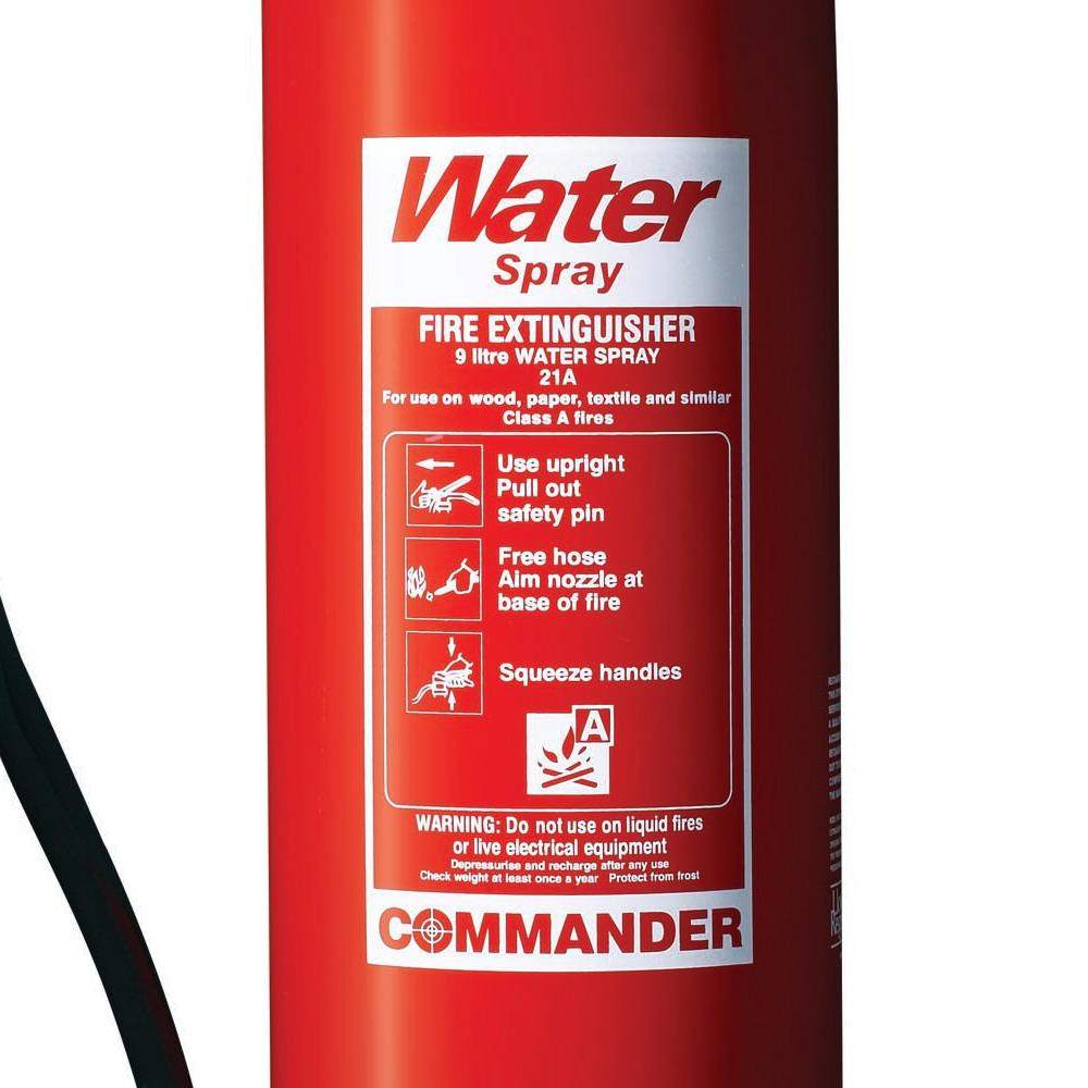 9 Litre Water Fire Extinguisher  Fire Extinguishers Store