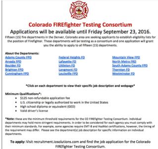 firefighter Consortium Test