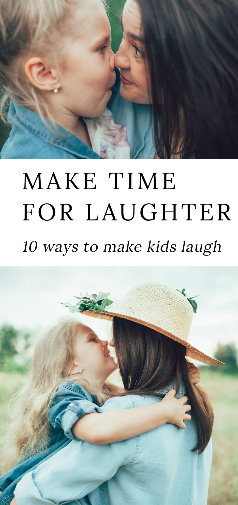It's a scientific fact that laughter is the best medicine. In this post, explore 10 heartwarming ways to make kids laugh and learn why daily laughter is important for health, connection, and development. #parenting #kids #motherhood via @firefliesandmudpies