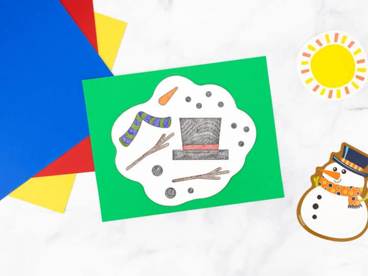 Melting Snowman Coloring Page