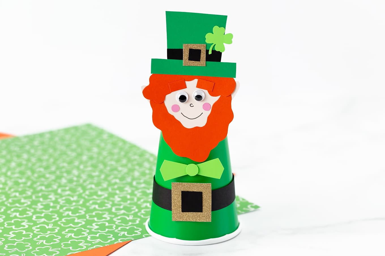 Paper Cup Leprechaun Craft