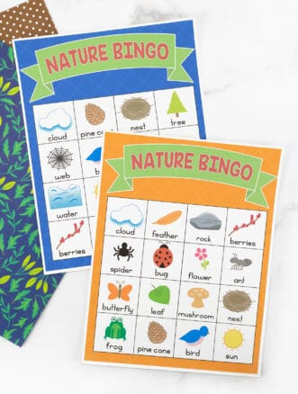 Two Nature BINGO Cards for Kids