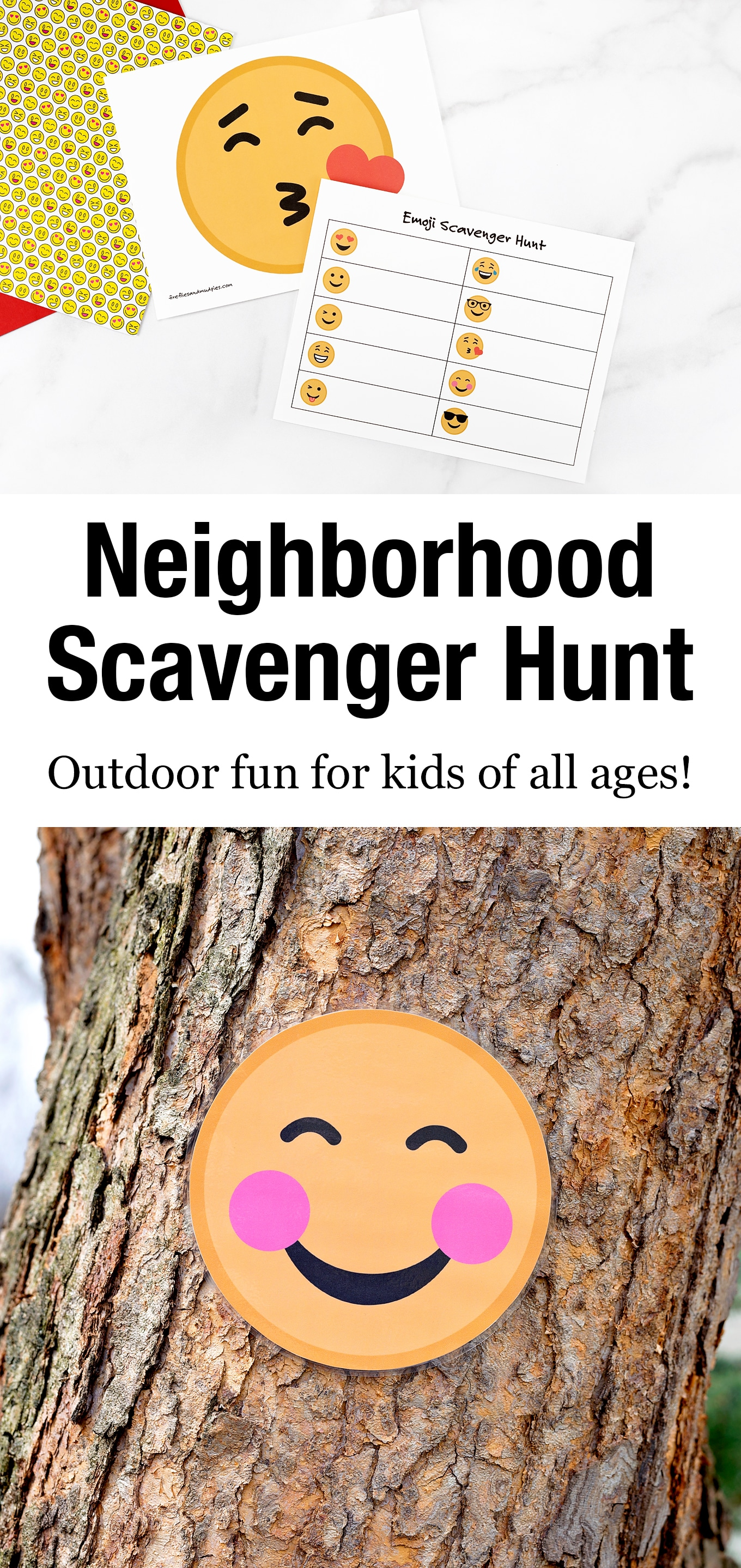 Learn how to host a fun neighborhood scavenger hunt—a creative way to get kids active, meet new people, and increase feelings of joy and community! #neighborhoodscavengerhunt #scavengerhunt via @firefliesandmudpies