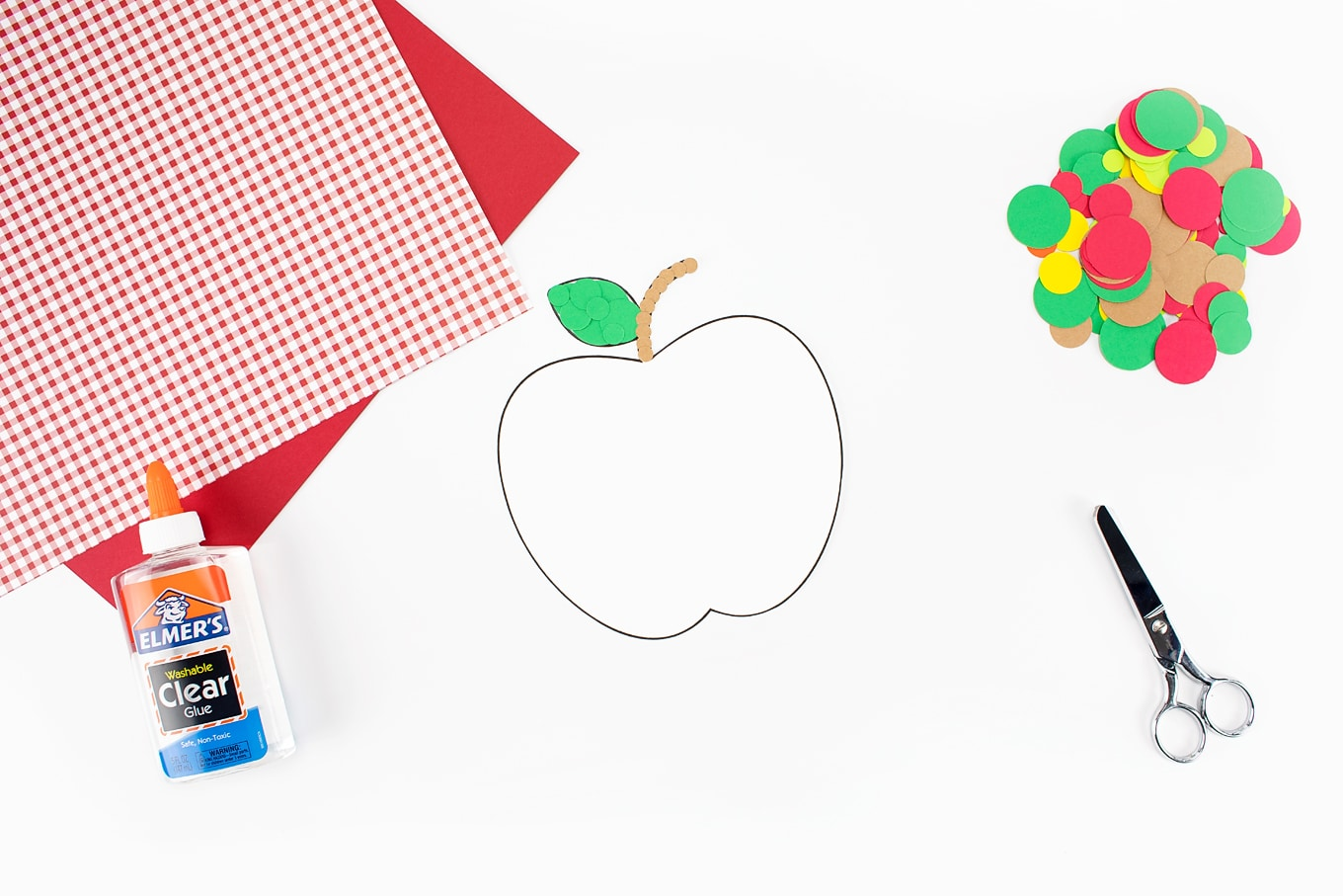 Paper Apple Craft In-Process