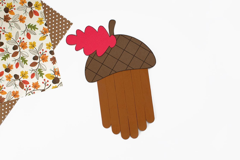 Popsicle Stick Acorn Craft