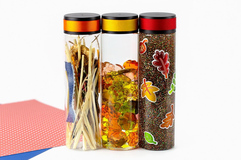 Three Fall Sensory Bottles for Kids