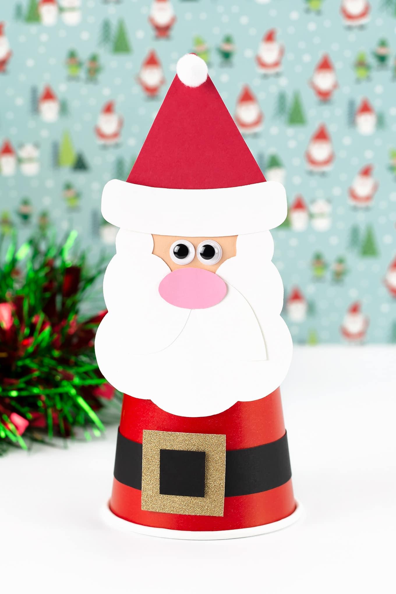 Paper Cup Santa Craft