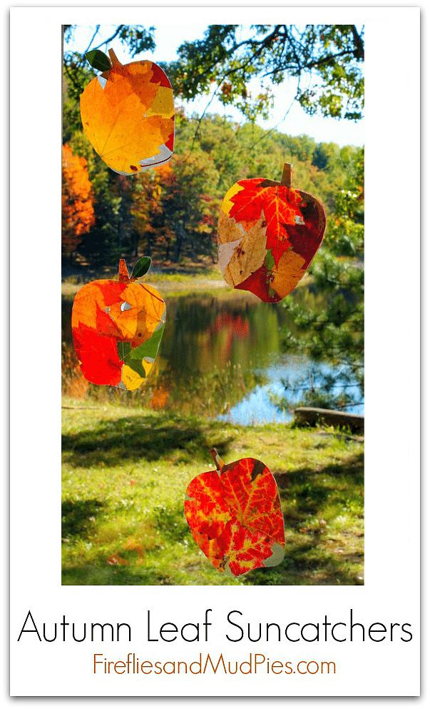 Autumn Leaf Suncatchers — Fireflies and Mud Pies