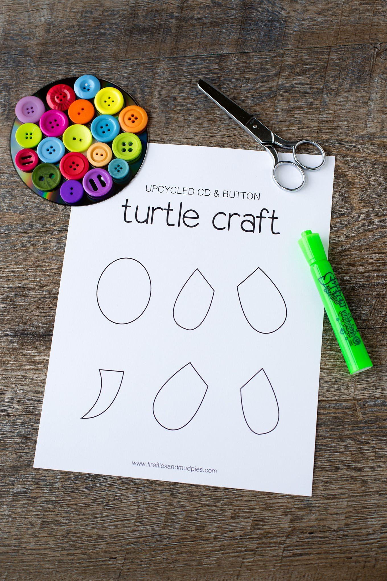 Free Printable Turtle Craft Template