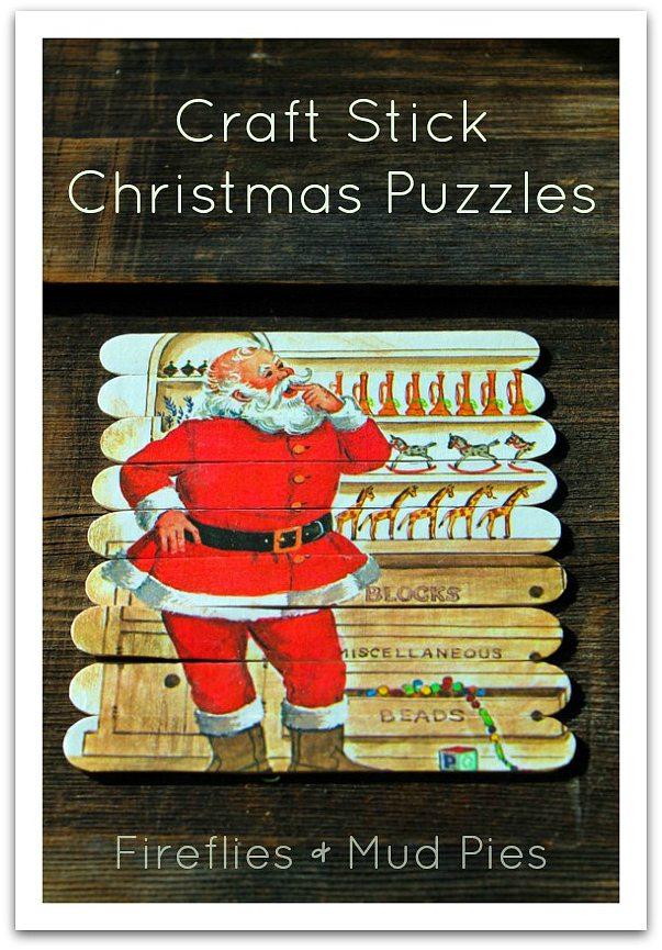Craft Stick Christmas Puzzles