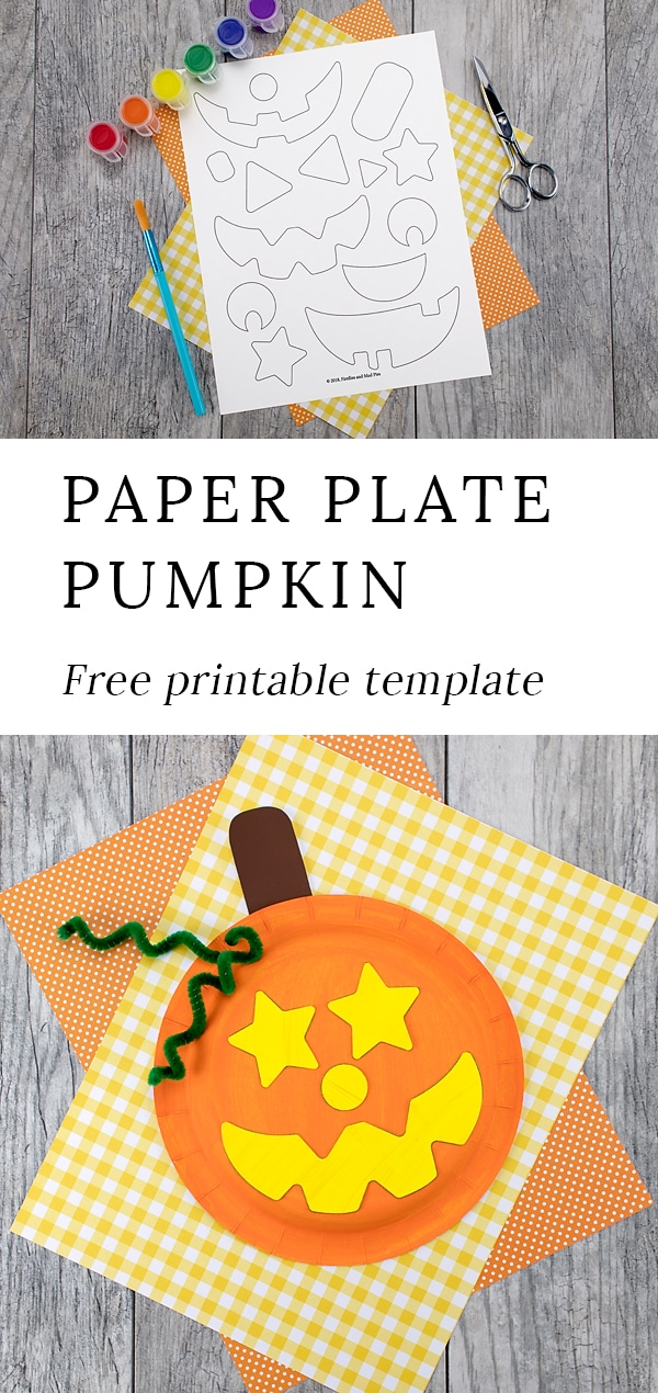 Just in time for Halloween, kids of all ages will enjoy creating this adorablepaper plate pumpkin craft with paper plates, paint, and pipe cleaners. #paperplatepumpkin #halloweencrafts #kids via @firefliesandmudpies
