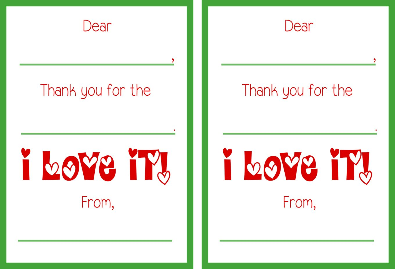printable christmas thank you