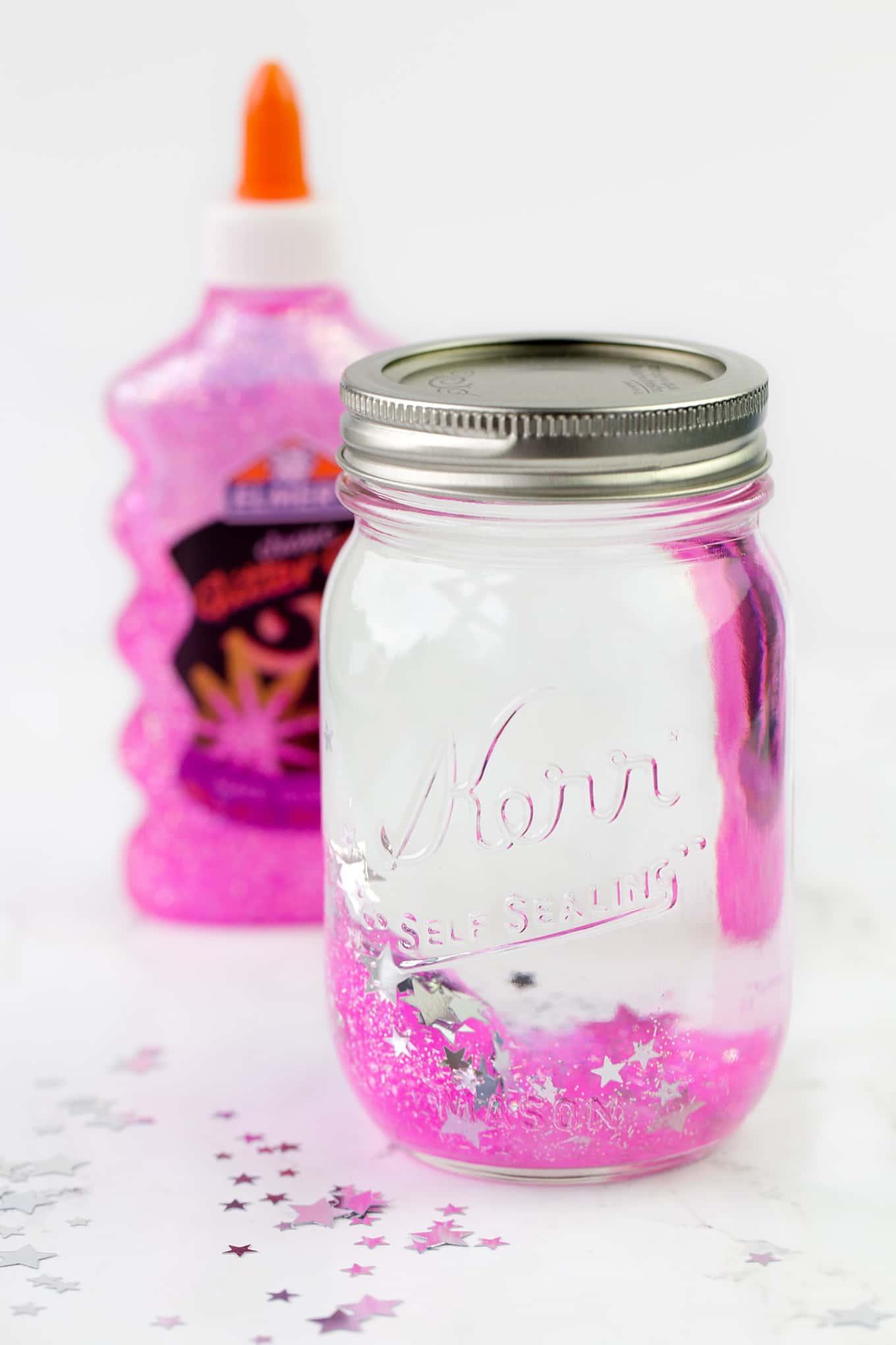 Pink Glitter Jar