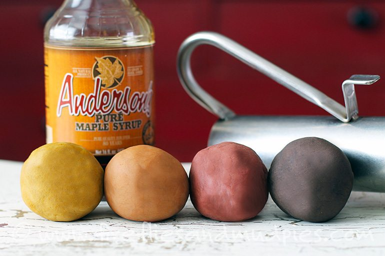 Graded Maple Syrup Playdough for Kids