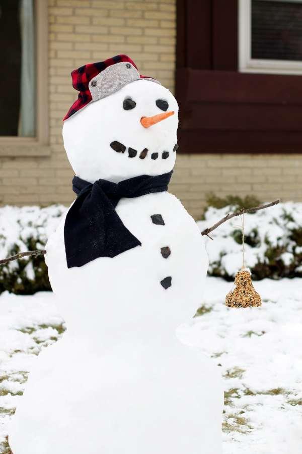 How to Make a Snowman Bird Feeder