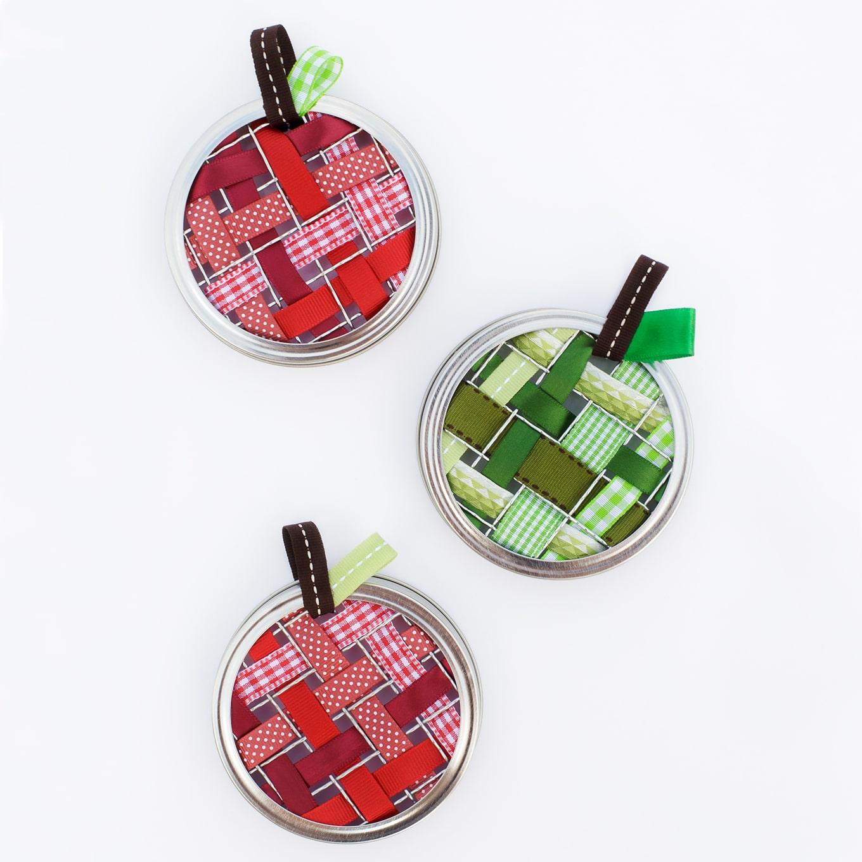 Scrap Ribbon Apple Suncatchers