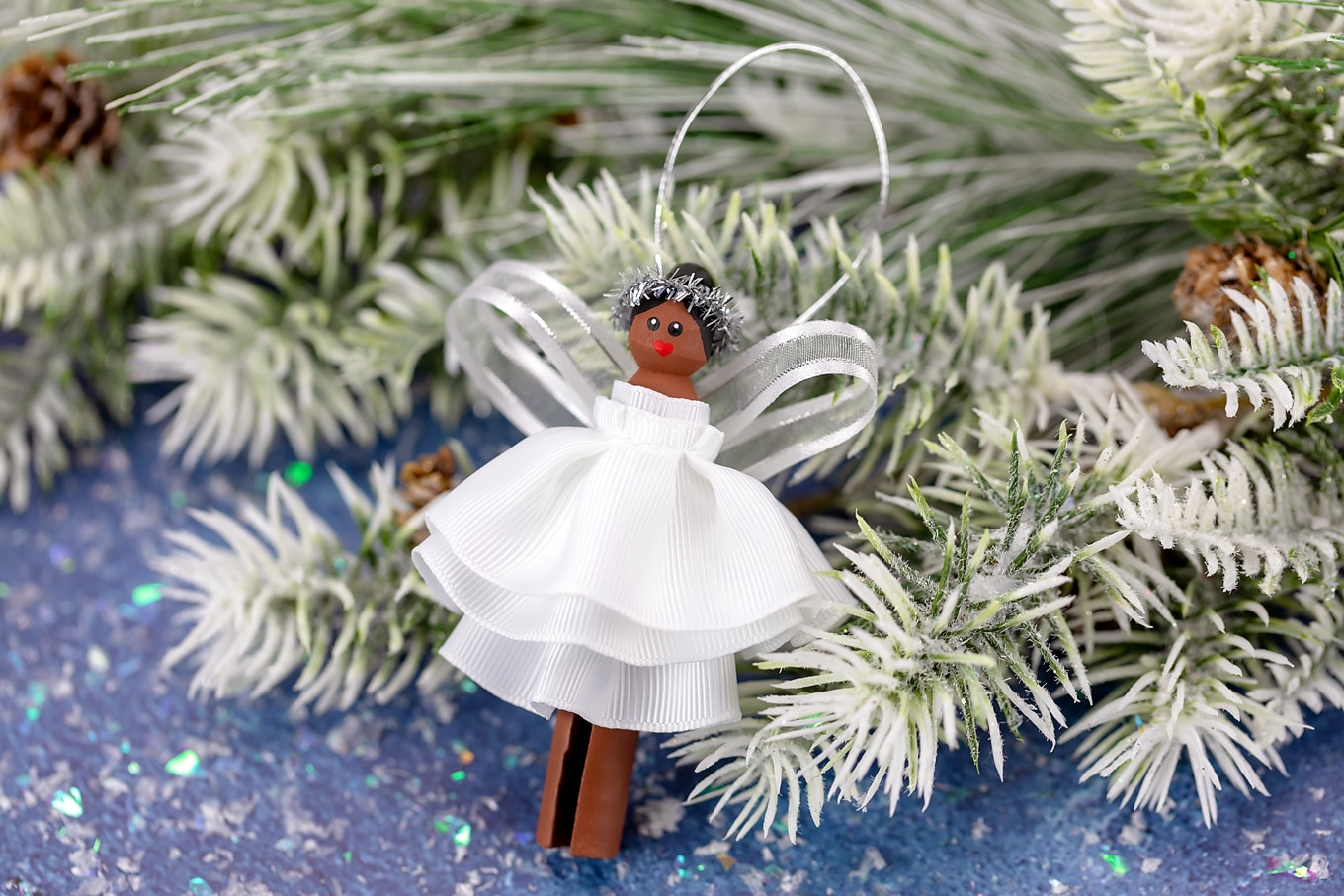 Easy and Fun Christmas Angel Ornament for Kids