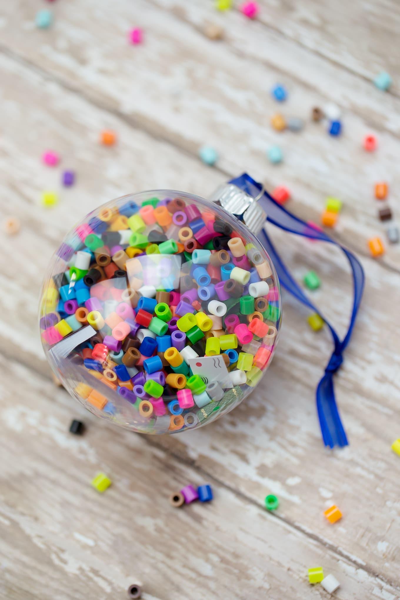 How to Make Colorful I Spy Christmas Ornaments