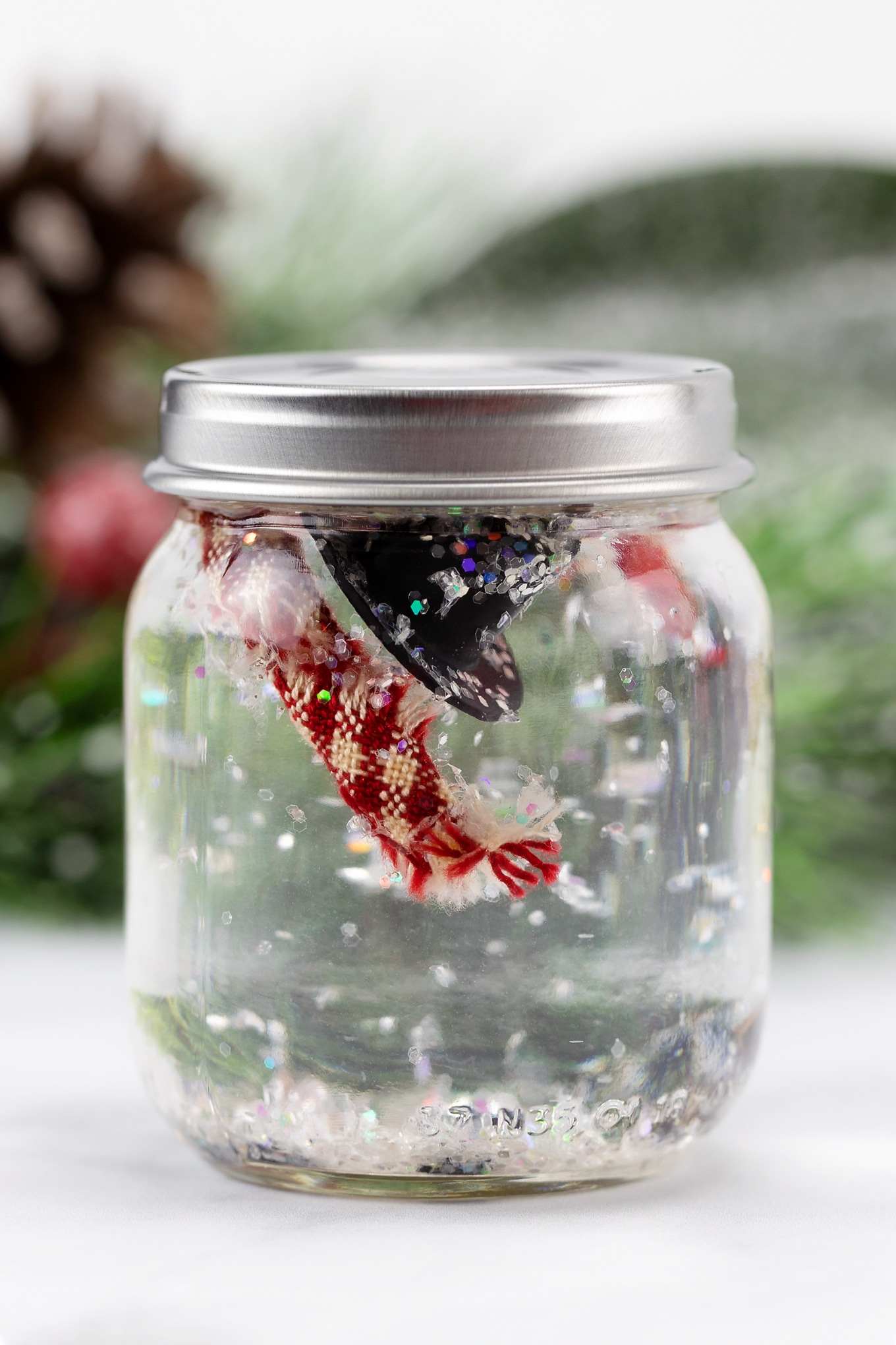 Melted Snowman in a Jar Craft for Kids