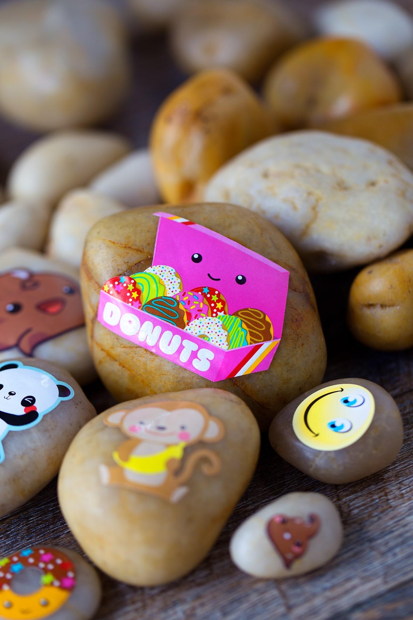 Sticker Rock Craft Idea