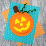 How To Make An Easy And Fun Paper Plate Pumpkin Craft Fireflies And Mud Pies