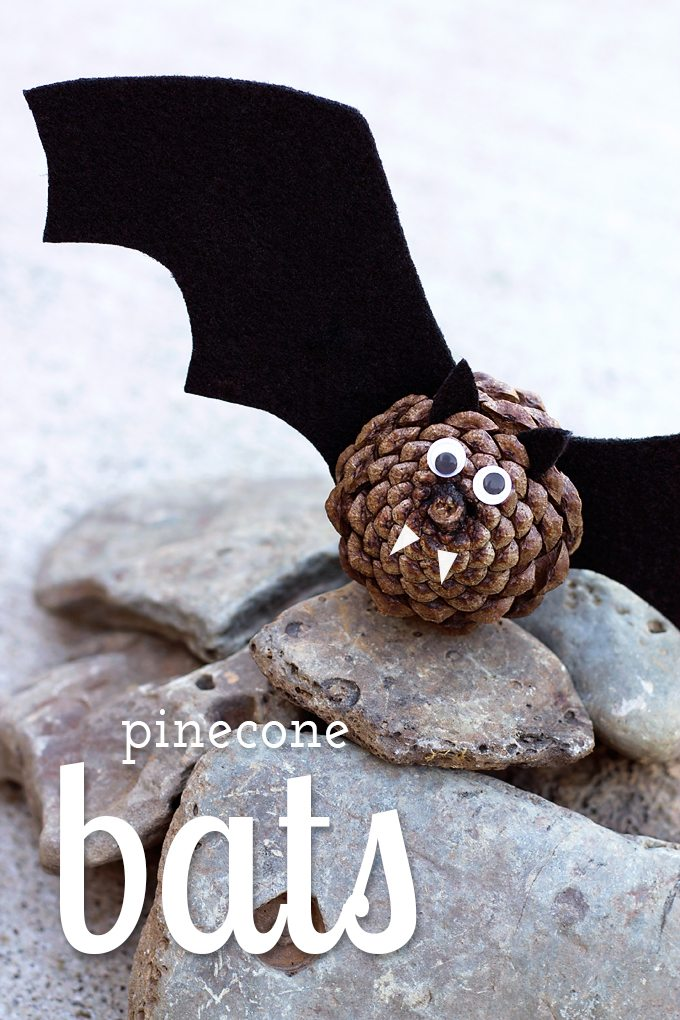 Black felt, pinecones, and wiggly eyes are all kids need to create a small colony of creepy-cute Pinecone Bats! Children of all ages will enjoy this simple and easy nature craft, perfect for fall.