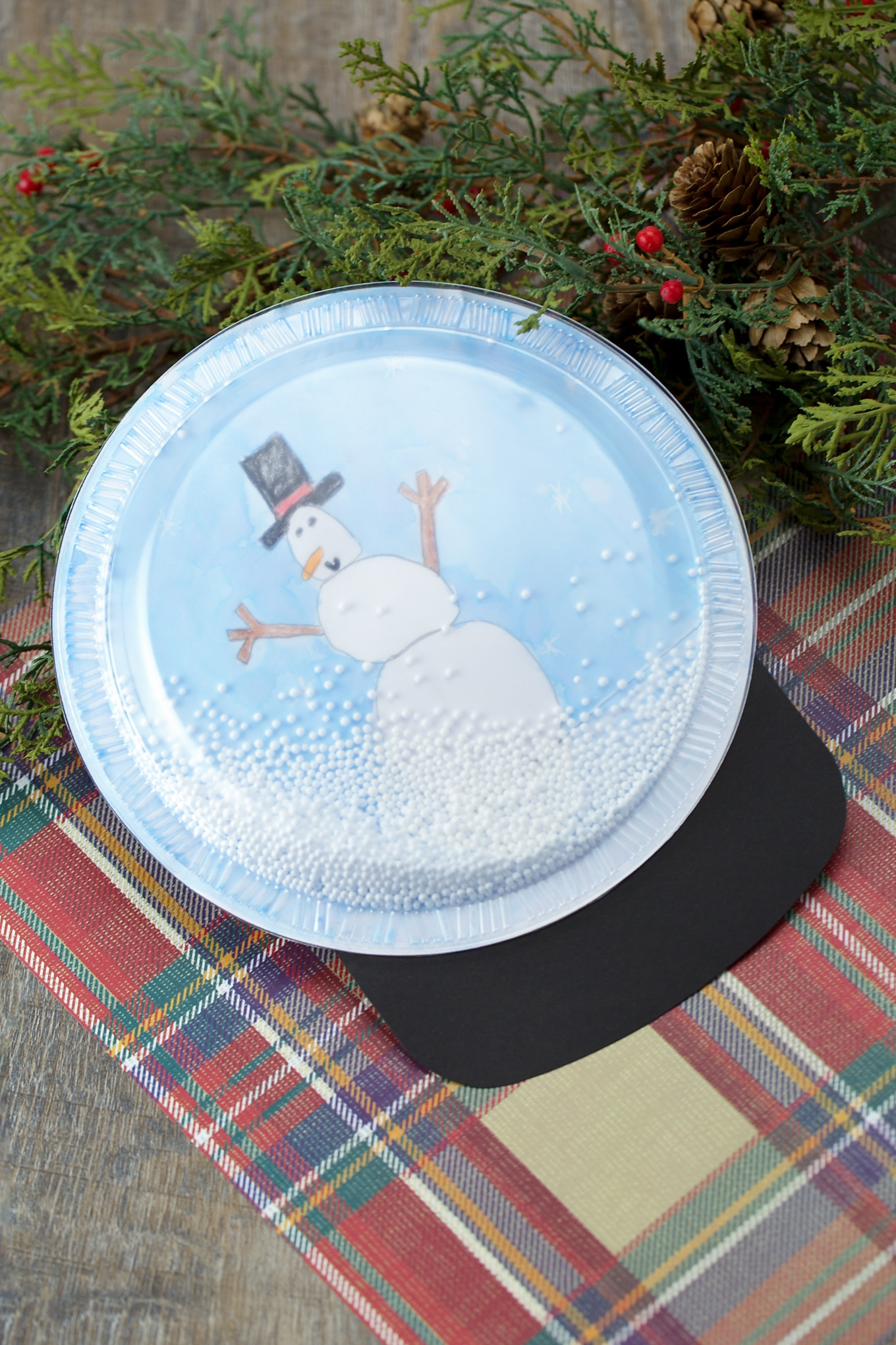 How to Make the Sweetest Plastic Plate Snow Globe Craft