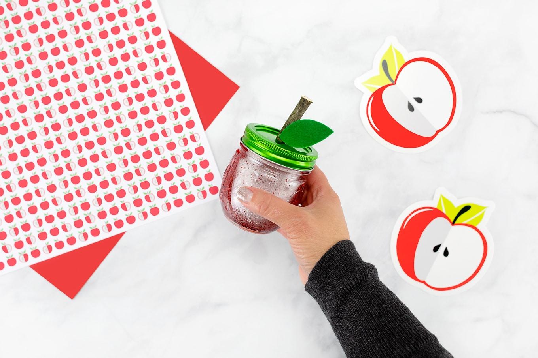 Shaking the Apple Glitter Jar