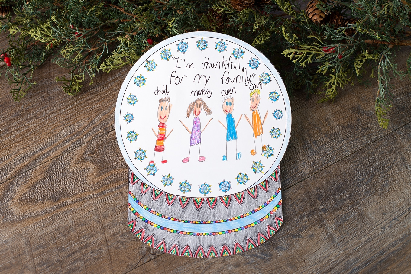 Fun Snow Globe Coloring Craft for School or Home