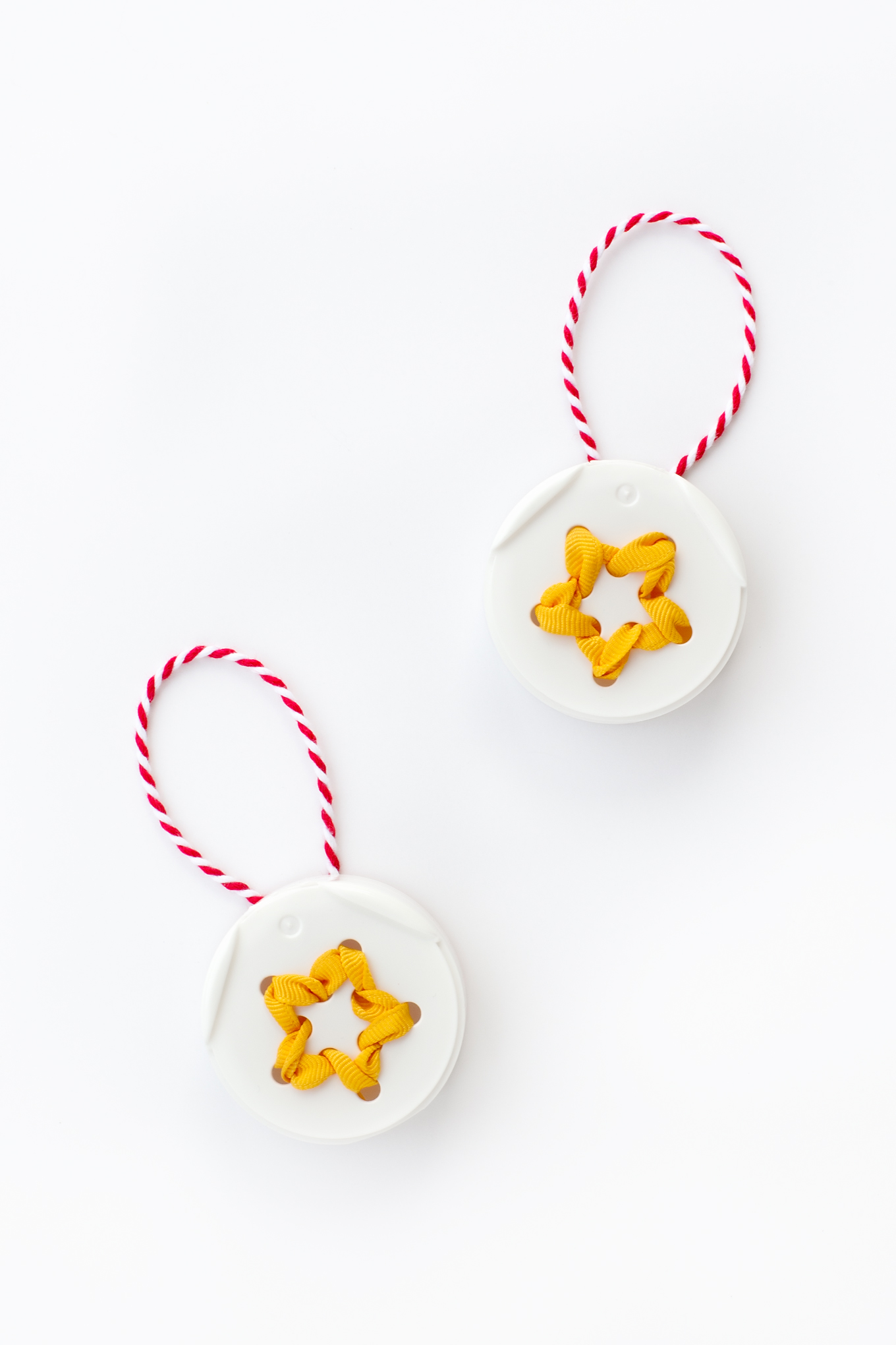How to Make Easy and Fun Christmas Star Ornaments with Spice Jar Lids