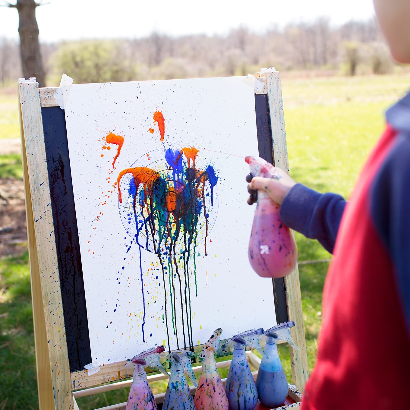 Squirt Painting Targets